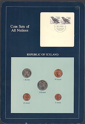 {BJSTAMPS}  Coin Sets of All Nations Republic of Iceland 1981 BU