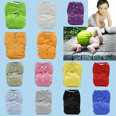 Washable Baby Toddler Nappy Cloth Diaper Training Pants Adjustable Reusable Soft