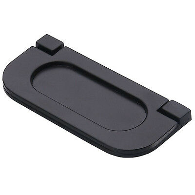"""New Black Invisible Flat Handle Kitchen Cabinets Handles Door Drawer Knobs 2.56"""""""