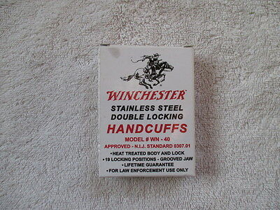 VINTAGE WINCHESTER HANDCUFFS NEW IN THE BOX/ GUN PARTS COLLECTION RIFLE TOOL KEY