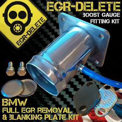 BMW E39 5 Series 520d 525d 530d X5 E53 3.0 BOOST GAUGE EGR removal kit blanking