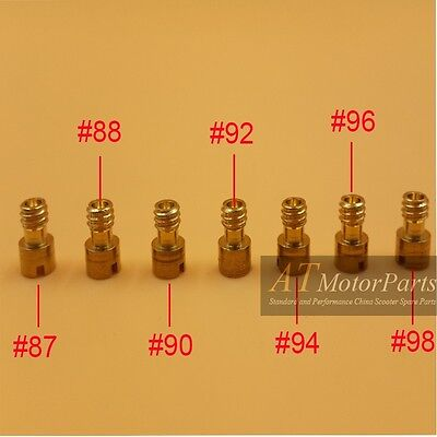 7pcs GY6 50cc Carburetor Carb Keihin main jet #87 #88 #90 #92 #94 #96 #98 139QMB