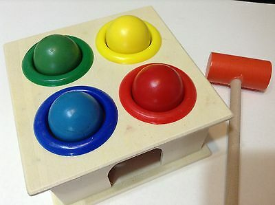 Hammering wooden ball box pound-a-peg Montessori educational toy Christmas gift