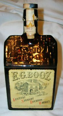 E.G. Booze Early Reproduction Whiskey Bottle With Original label