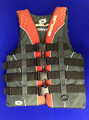 Water ski safety buoyancy aid Lifejacket small adult jetski wakeboard 4 Buckle