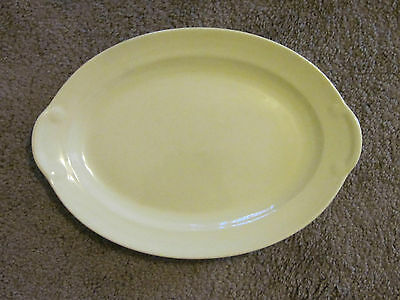 """Vintage T.S.& T. Lu-Ray Pastels 11 3/4"""" Oval Platter Yellow"""