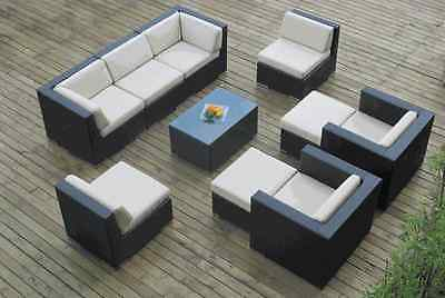 Outdoor  Patio Wicker Sectional Furniture 10pc Set