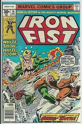 **IRON FIST #14**(AUG 1977, MARVEL)**1ST APP. OF SABRETOOTH!**BRONZE AGE KEY**FN