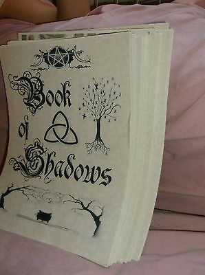Over 190 pgs Parchment Wicca Book of Shadows Real Witches Spells Rituals