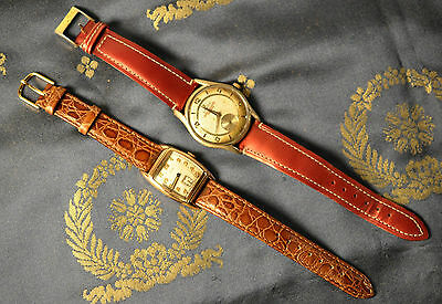 VINTAGE 15JEWELS ELGIN GF SQUARE + LANCO 17 RUBIS WATCHES FOR REPAIR OR PARTS