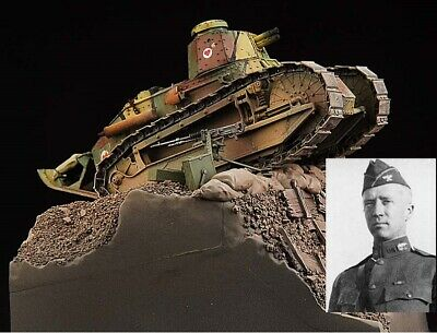 Award Winner Built 1/35 Renault FT-17 US Army Trench Attack Diorama+PE+Inter