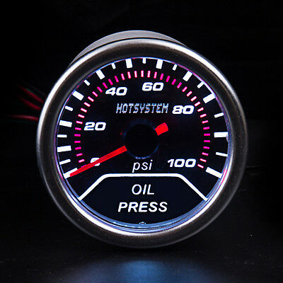 "CAR Truck Vehicle 2"" 52mm OIL PRESSURE PRESS METER Pointer GAUGE AU Stock"