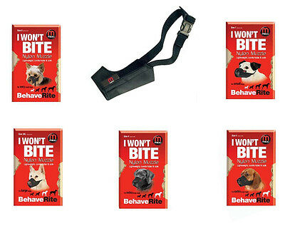 Mikki Soft Nylon Dog Muzzles For Training And Safety All Sizes Available