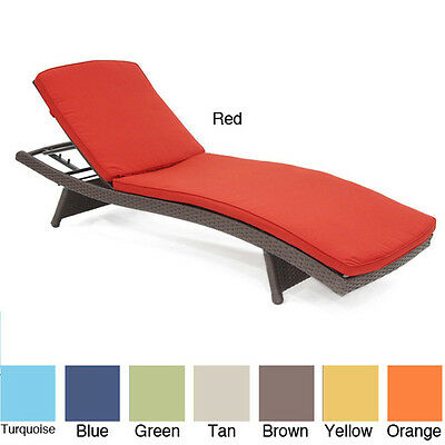 Wicker Patio Chaise Lounger Cushion Outdoor Patio Furniture Garden New Gift