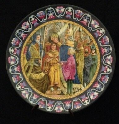 Wedgwood In The Year Of Our Lord Arthur Crowned King Bone China Plate