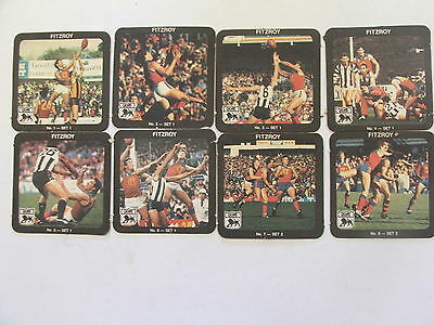 1985/86 AFL/VFL Fitzroy Lions 24 paperboard coasters