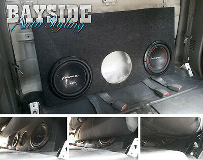 Toyota Hilux Dual Cab Subwoofer Packs 2007 to 2015 - Fibreglass custom sub box