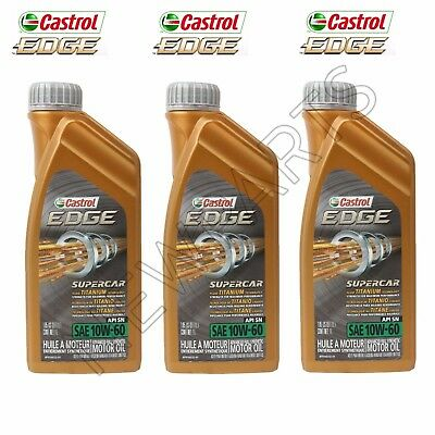 3-Liters Genuine Castrol 10w60 SYNTHETIC Motor Oil/Engine Oil For BMW M3 M5 M6