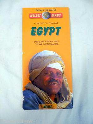 Vtg 1990S Nelles Maps Egypt Special Map River Nile Valley  City Map Cairo
