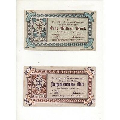 NOTGELD - 4 different notes 500 & 100 & 1 million mark (D056) [D056 DEUT
