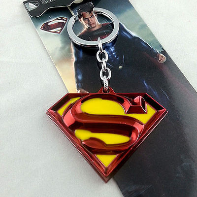 DC Comics Superman Color Pewter Metal Keychain NEW & HOT Combine Shipping