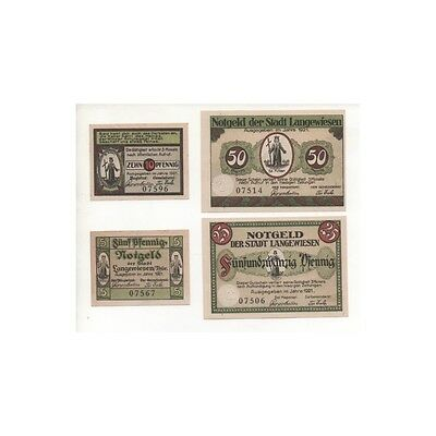 NOTGELD - LANGEWIESSEN - 4 different notes (L020) -.L020 ALLEM