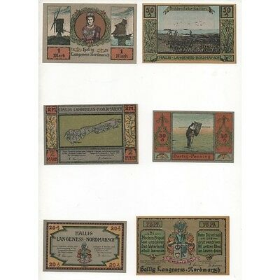 NOTGELD - LANGENESS - 6 different notes (L021) -.L021 ALLEM
