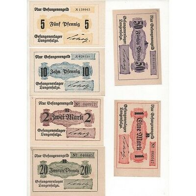 NOTGELD - LANGENSALZA - 6 different notes - different filigrane (L023) -.L023 AL