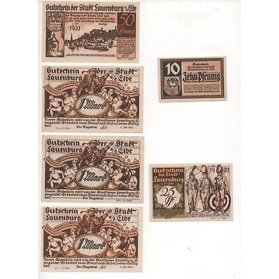 NOTGELD - LAUENBURG - 6 different notes (L032) -.L032 ALLEM