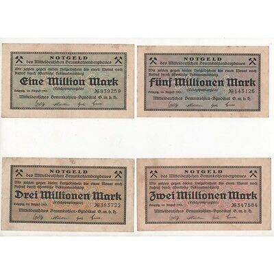 NOTGELD - LEIPZIG - 5 different notes - VARIANTE - 1923 (L043) -.L043 ALLEM