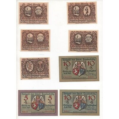 NOTGELD - LEOBSCHUTZ - 15 different notes - small numbers (L057) -.L057 ALLEM