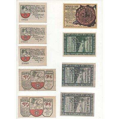 NOTGELD - LORCH - 9 different notes (L084) -.L084 ALLEM