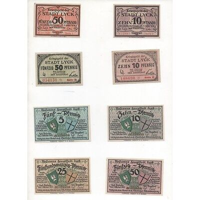 NOTGELD - LYCK - 8 different notes - serie 1 & 2 (L116) -.L116 ALLEM