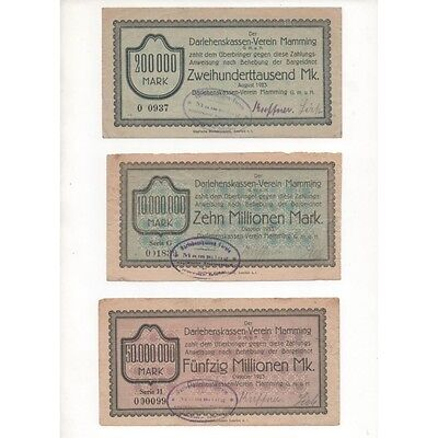 NOTGELD - MAMMING - 4 different notes (M013) -.M013 ALLEM