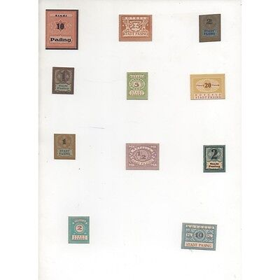 NOTGELD - PASING - 11 different notes (P003) [{DE.REFERENCE}]