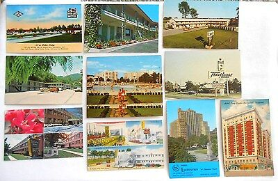 Lot of 11 Unused Postcards Hotels in New York California Kentucky Florida Quebec