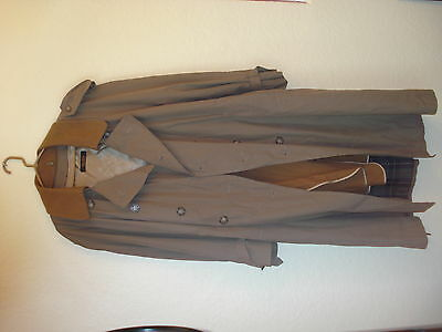 Men's Brooks Brothers Trench Coat W/Wool Zip Out Liner-46R
