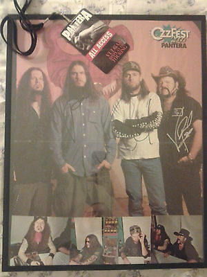 Autographed Pantera Poster Signed Dimebag Darrell