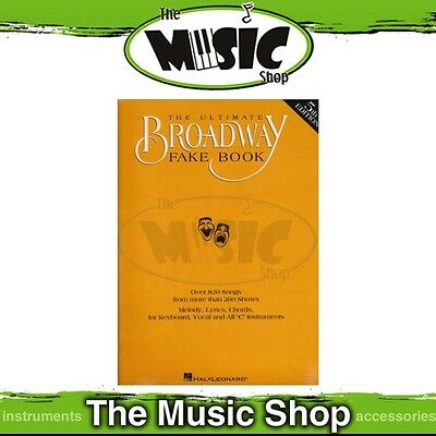 New Ultimate Broadway Fake Book Music Songbook for C Instruments - 5th Edition