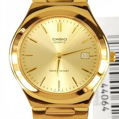 Casio Men's Mtp1170N-9A Analog Gold Tone Stainless Steel Watch