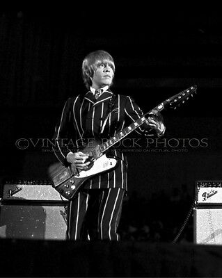 Brian Jones Rolling Stones Photo 8x10 in 1966 Cow Palace Daly City CA Concert 31