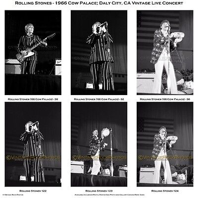 """Rolling Stones Photos 4x6"""" Set of 28 Prints '66 Cow Palace Daly City CA Concert"""