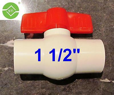 "PVC BALL VALVE 1 1/2""(40mm) Solvent Slip End"