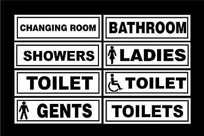 Various Toilet Door Signs - Gents, Ladies, Disabled, Showers, Changing Room Shop