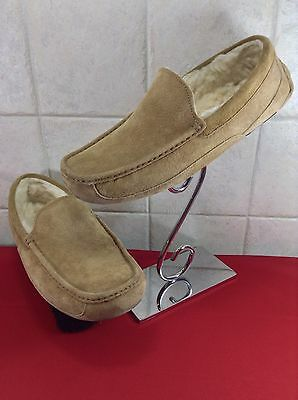 UGG Mens Ascot Genuine Sheepskin Suede Leather Chestnut Slippers 5775 Size 11