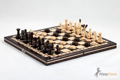 Brand New Hand Crafted Cherry Wooden Chess Set 35cm x 35cm
