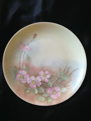 ANTIQUE HUTSCHENREUTHER SELB BAVARIA CHINA,  HAND PAINTED FLORAL PLATE