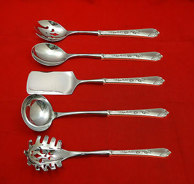 Sterling Rose by Wallace Sterling Silver Hostess Set 5pc HHWS  Custom Made