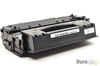 1PK New Compatible HP Q7553X 53X HY Black Toner Cartridge - LaserJet P2015