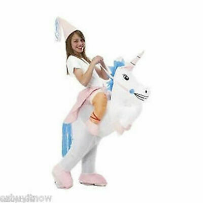 UNICORN Fancy Dress Inflatable Suit - Fan Operated Costume